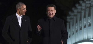 "US President Barack Obama (L) walks with China's President Xi Jinping at the Zongnanhai leaders compound, ahead of a dinner in Beijing on November 11, 2014. The summit of Asia-Pacific leaders supported a China-backed ""roadmap"" towards a vast free trade area, Chinese President Xi Jinping said on November 11. AFP PHOTO / Mandel NGAN        (Photo credit should read MANDEL NGAN/AFP/Getty Images)"