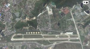 Airfield for drones on Daishan Island