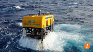 China's homegrown remote-controlled submersible Seahorse that is able to operate at the depth of 4,500 meters, which proves China lags behind no one in submersible technology. Photo from SCMP's report